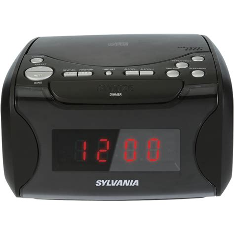 sylvania alarm clock radio with cd player and usb charging ebay