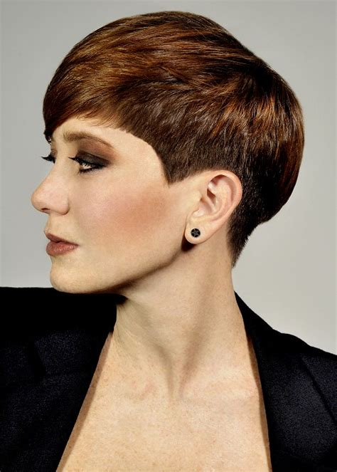 stud hairstyles a short brown hairstyle from the modern elegance