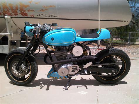 Suzuki Savage Backfire Suzukisavage Projects Rizzla Cafe Racer