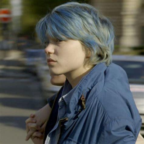 lea seydoux pixie cut l 233 a seydoux pixie blue hair hairy heads pinterest
