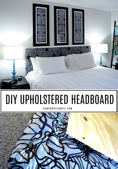 easy diy upholstered headboard anyone can make somewhat