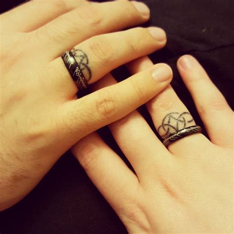 unique wedding ring tattoos make a rocking by astonishing ring tattoos