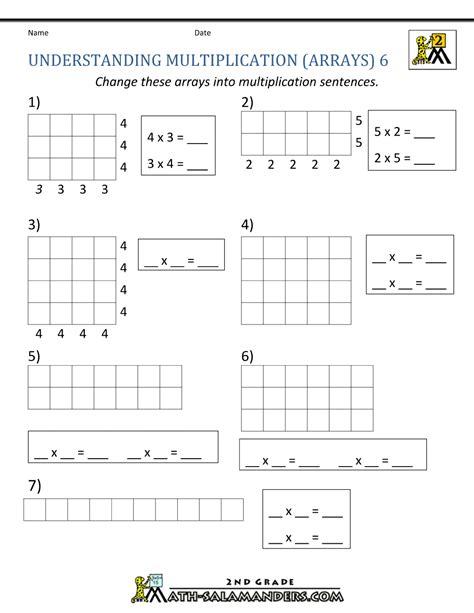 Array Worksheets by Beginning Multiplication Worksheets