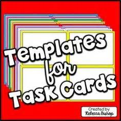 task card template ppt free task card pdf template savable editable all you