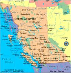 Map Of Bc Canada by Map British Columbia Canada Security Guards Companies