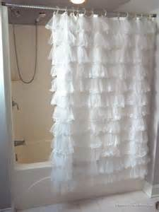 shabby crushed voile ruffled shower curtain eleanor