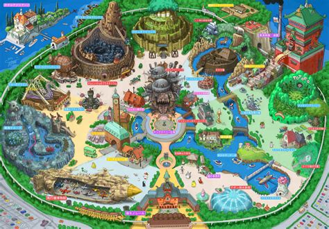 theme park editor this amazingly detailed theme park map is what tokyo