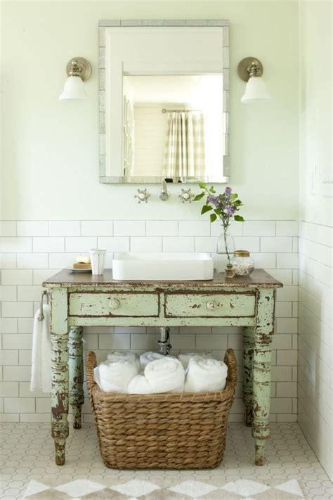 Beau Meuble Original Pas Cher #1: meuble-salle-bains-pas-cher-table-vintage-tiroirs-vasque-blanc-miroir.jpg