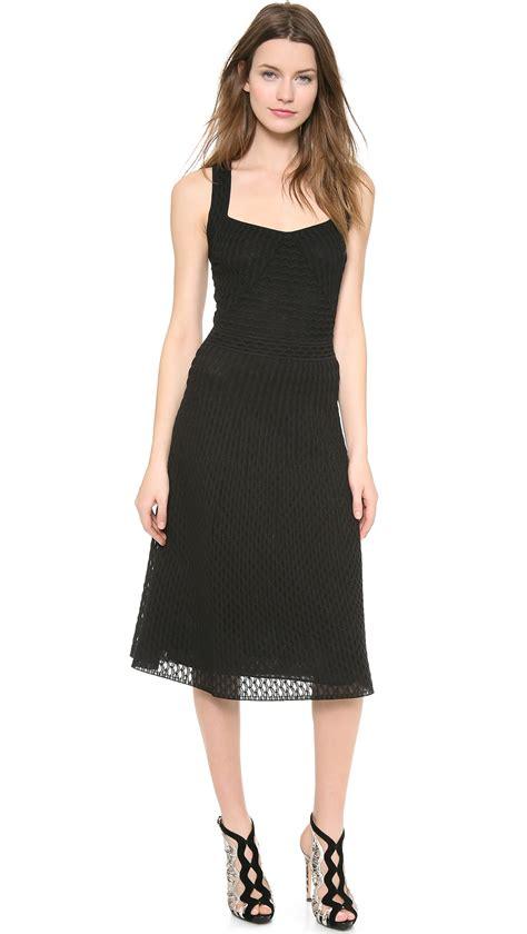Dress Mini Mano 2 lyst m missoni solid micro fan pattern dress in black
