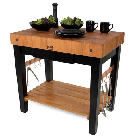 Kitchen Cart With Pot Rack by Kitchen Islands American Cherry Pro Prep Block W