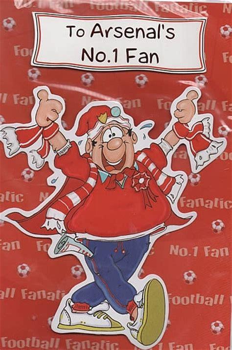 arsenal xmas cards football birthday cards to arsenal s no 1 fan handmade