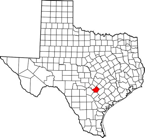 Guadalupe County Property Records File Map Of Highlighting Guadalupe County Svg