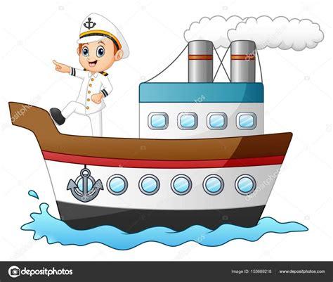 imagenes de barcos animados capit 225 n de la nave de dibujos animados en un barco