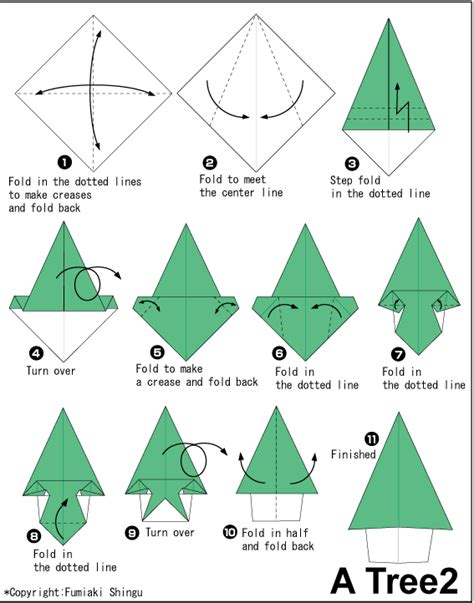 Origami Tree Step By Step - pin di jodie west su lesson plans