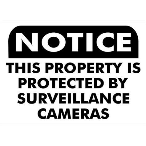 small surveillance small surveillance sign