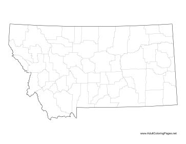 montana map coloring page montana coloring page