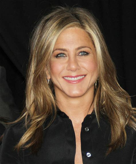 jennifer aniston half up half down hairstyles jennifer aniston long straight casual hairstyle dark blonde