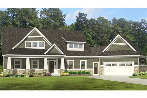 House Plans Open Concept by Roomy Craftsman With Angled Garage Hwbdo76998 Craftsman