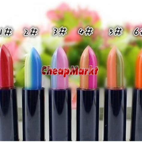 Warna Lipstick Shop 1pcs 2 warna cur satu makeup rainbow gradient color moisturizing lip lipstik