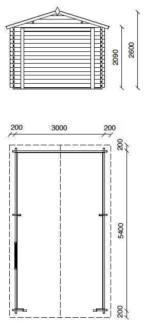 dimensioni box auto garage box auto in legno da esterno bsvillage