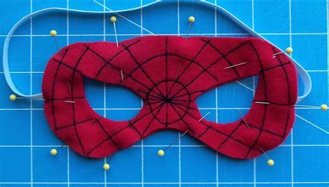 spiderman pattern print felt superhero mask templates cutesy crafts