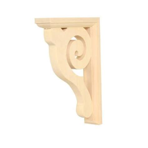 Wood Brackets Home Depot Waddell Wadc 618 1 1 2 In X 6 In X 8 1 2 In Basswood