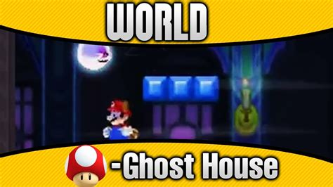 mushroom house world 2 new super mario bros 2 world mushroom ghost house 100 all star coins secret exit