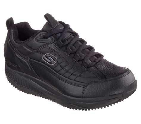 Skechers Work Shoes by 77049 Black Skechers Shoe Shape Ups New Memory Foam