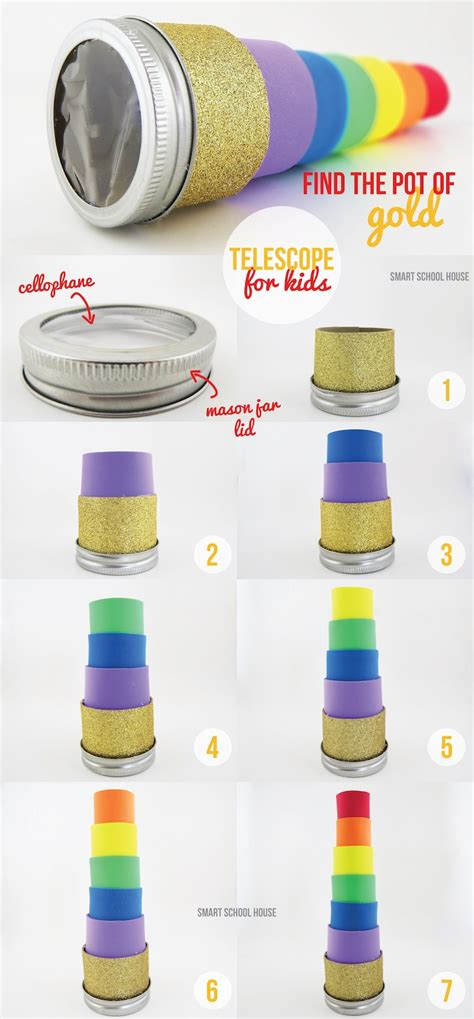 How To Make A Telescope Out Of Paper - pot of gold telescope other st patricks day ideas all