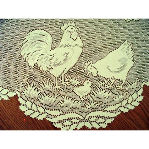 table toppers table topper rooster ecru 30 inch heritage lace