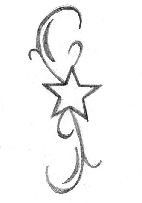 single star tattoo designs simple stencils studio design gallery best