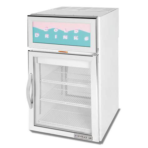Countertop Refrigerator - beverage air crd5 1w g white pass through countertop