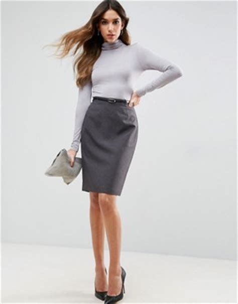 lavish lavish pencil skirt with knot front simple pencil skirts shop for conscious skirts asos