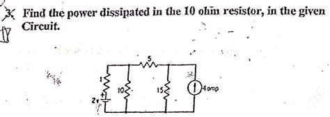power dissipated by the resistor formula electrical engineering archive december 02 2013 chegg