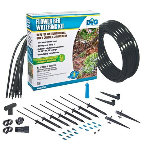 dig flower bed watering kit   home depot