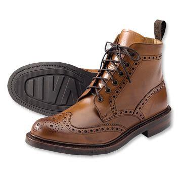 Sepatu Casual Black Master Britis Black leather brogue boots brogue boot orvis