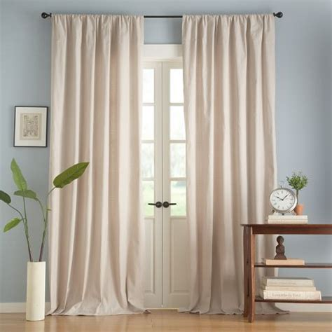 pottery barn textured cotton drape drapes in sitting room and large guest bedroom textured