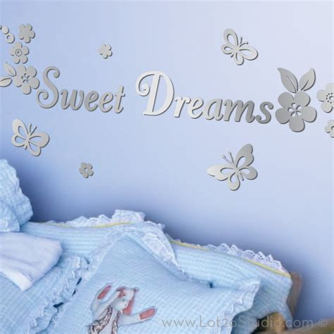 sweet dreams wall stickers mirrored sweet dreams wall decals wall decals san francisco by lot 26 studio inc