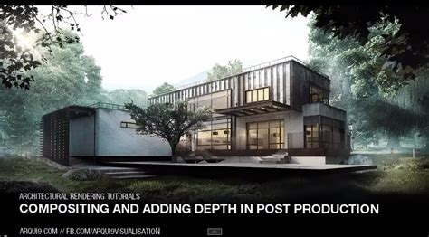 tutorial photoshop architecture atmospheric depth and compositing in architectural