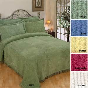 solid color bedspreads solid color chenille bedspread with fringe border
