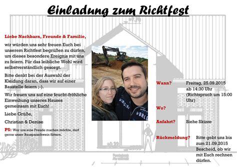Richtfest Wen Einladen by Unser Richtfest Unser Passivhaus In Burgdorf Hannover