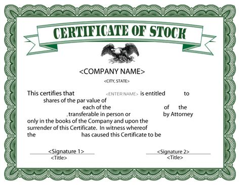 corporate stock certificate template free 40 free stock certificate templates word pdf ᐅ