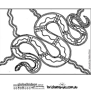 aboriginal colouring pages brisbane kids