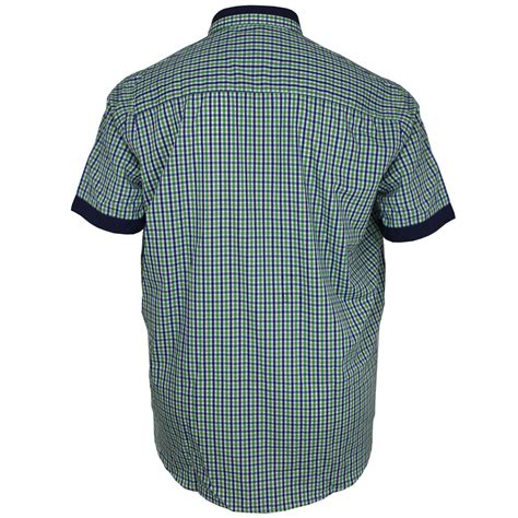 Kaos Big Size Navitas 2xl 3xl 4xl mens big size cotton valley casual green sleeve check shirt 2xl 3xl 4xl