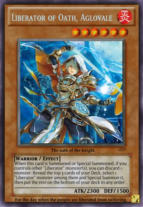 Free Yugioh Cards Giveaway - image liberator of oath aglovale png yu gi oh custom cards wiki