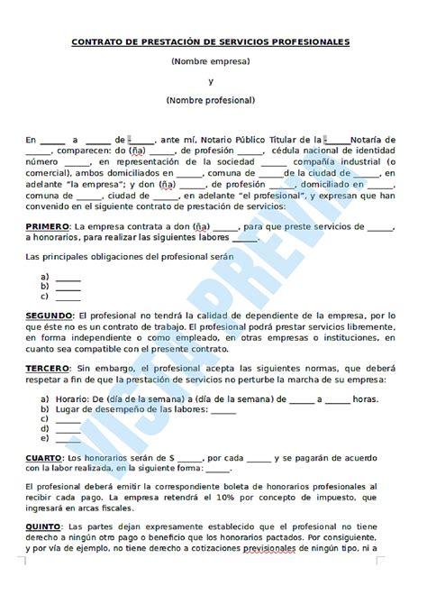 formato modelo o ejemplo de contrato de asimilados a salarios modelos de contratos de prestacion de servicios