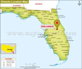 Orlando Location Map by Where Is Orlando Florida Where Is Orlando Located In Usa