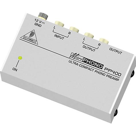 Behringer Phono Prelifiers Microphono Pp400 behringer microphono pp400 phono pre musician s friend