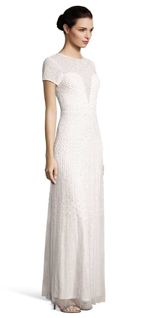 pearl beaded dress pearl beaded wedding dress w illusion neckline and