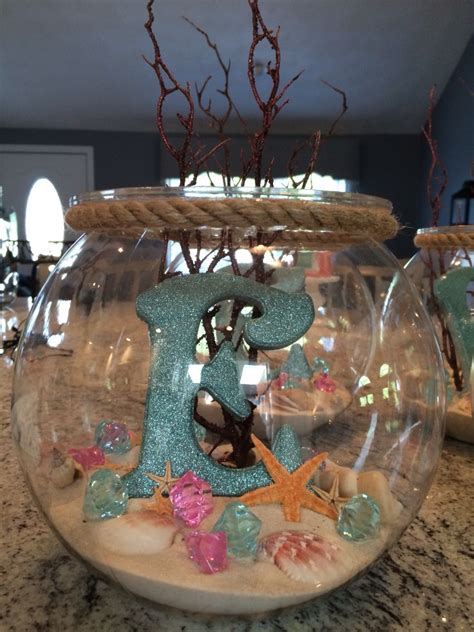 centros de mesa para de moana mermaid centerpieces and birthdays